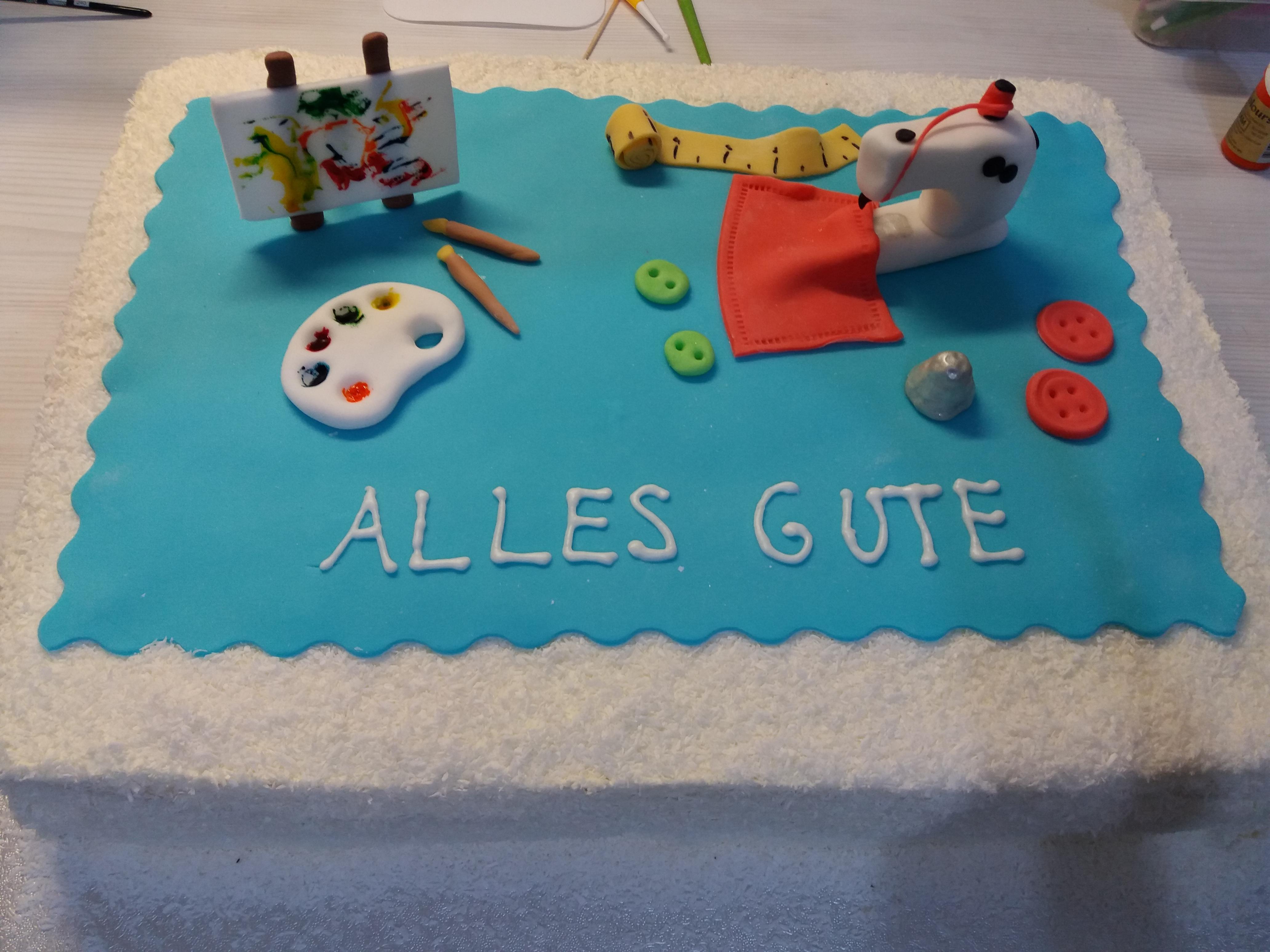 Kunstler Nahmaschine Torte