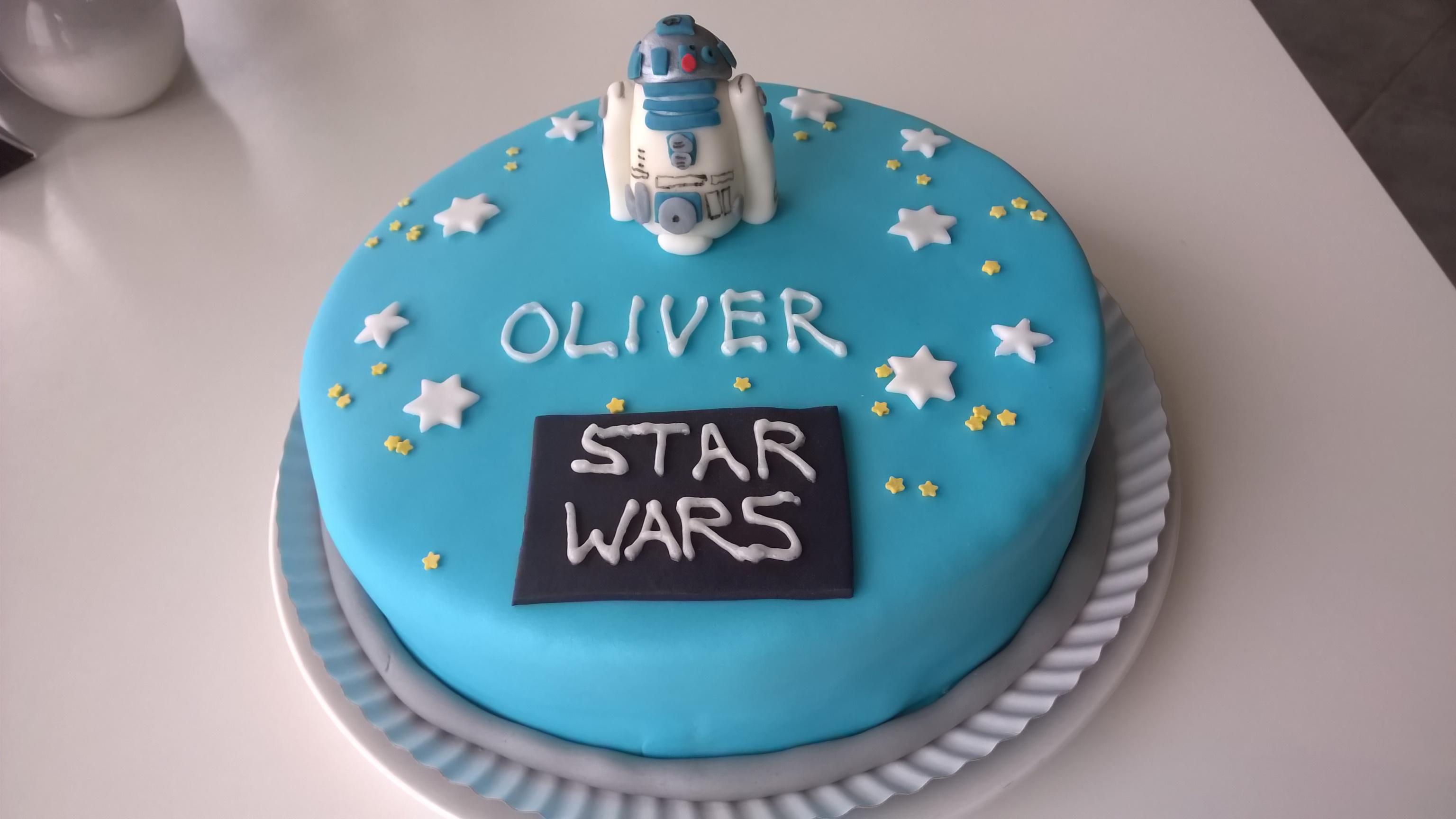 Star Wars R2d2 Torte